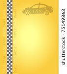 taxi banner for your design ... | Shutterstock .eps vector #75149863