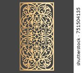 laser cut decorative element.... | Shutterstock .eps vector #751504135