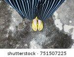Yellow Sandals. Selfie Woman S...