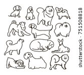 vector set with cute cartoon... | Shutterstock .eps vector #751508818