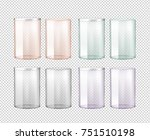transparent glass jar with... | Shutterstock .eps vector #751510198