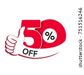 vector special sale offer. red... | Shutterstock .eps vector #751516246