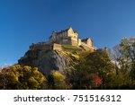 edinburgh castle  one of the... | Shutterstock . vector #751516312