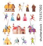 medieval characters historical... | Shutterstock .eps vector #751517002