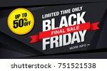 black friday sale banner layout ...   Shutterstock .eps vector #751521538