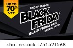 black friday sale banner layout ... | Shutterstock .eps vector #751521568