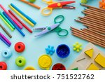 office and student accessories...   Shutterstock . vector #751522762