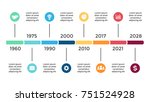 vector arrows circles timeline... | Shutterstock .eps vector #751524928