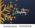 christmas background with... | Shutterstock .eps vector #751529518