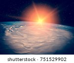 sunrise over the earth. the... | Shutterstock . vector #751529902