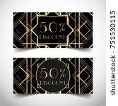 gift voucher in luxury art deco ... | Shutterstock .eps vector #751530115
