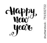 happy new year text isolated on ... | Shutterstock .eps vector #751532722