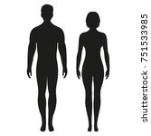 male and female silhouette on... | Shutterstock . vector #751533985