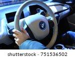 Hand Keeping Steering Wheel Of...