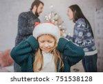 sad  desperate little girl... | Shutterstock . vector #751538128
