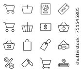 thin line icon set   cart ... | Shutterstock .eps vector #751545805