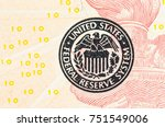 close up macro detail of dollar ... | Shutterstock . vector #751549006