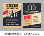 chess tournament posters  flyer ... | Shutterstock .eps vector #751549612