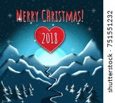 winter holidays background for... | Shutterstock . vector #751551232