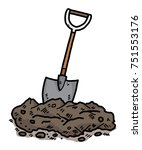 soil and shovel   cartoon... | Shutterstock .eps vector #751553176