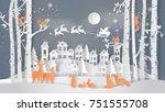 illustration of winter season... | Shutterstock .eps vector #751555708