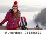 winter  leisure  sport and...   Shutterstock . vector #751556512