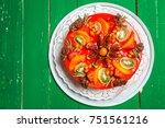 delicious sweet fruit cheese... | Shutterstock . vector #751561216