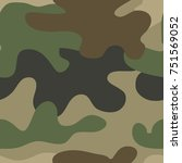army camouflage pattern for... | Shutterstock .eps vector #751569052