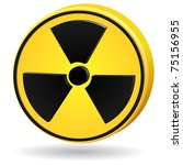 3d sign radiation. vector | Shutterstock .eps vector #75156955