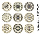 Set Of Nine Decorative Plates...