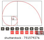 the golden section. composition ... | Shutterstock .eps vector #751579276
