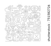 grey line art on a white...   Shutterstock .eps vector #751582726