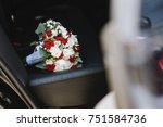 beautiful wedding bouquet | Shutterstock . vector #751584736