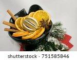 fragrance lamp christmas scents | Shutterstock . vector #751585846