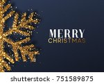 christmas background with... | Shutterstock .eps vector #751589875