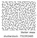 maze vector illustration... | Shutterstock .eps vector #751592485
