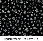 cute small floral pattern | Shutterstock . vector #751595815