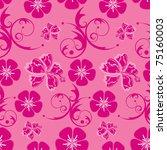 Flower Pattern On Pink...