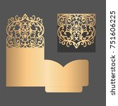 laser cut pocket fold envelope... | Shutterstock .eps vector #751606225