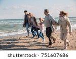 big multigenerational family... | Shutterstock . vector #751607686