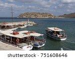 plaka harbour  crete  greece ...   Shutterstock . vector #751608646