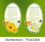 vector set  floral background...