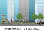 city street concept vector... | Shutterstock .eps vector #751616062