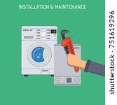 plumbing service  installation... | Shutterstock . vector #751619296