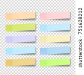 post note sticker. paper sticky ... | Shutterstock . vector #751628212