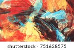 bright artistic splashes on... | Shutterstock . vector #751628575