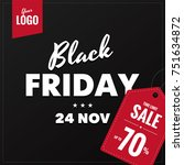 black friday sale square social ... | Shutterstock .eps vector #751634872