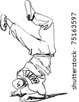 guy dancing break dance boy | Shutterstock . vector #75163597