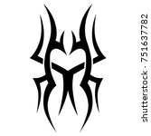 tattoo tribal vector design.... | Shutterstock .eps vector #751637782