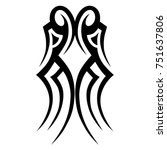 tattoo tribal vector designs.... | Shutterstock .eps vector #751637806